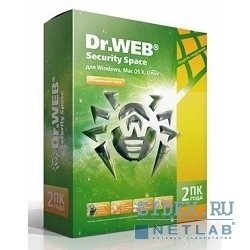 Dr.Web Security Space 2 ПК на 2 года (BHW-B-24M-2A3)